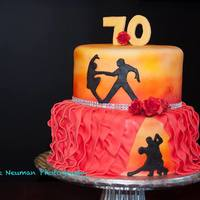 Latin Dance Themed Birthday Cake The Ruffle Bottom Was Inspired By My High School Homecoming Dress   Latin dance themed birthday cake. The ruffle bottom was inspired by my high school homecoming dress!