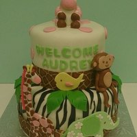 Baby Shower Cake Based On The Jungle Jill Bedding Baby shower cake based on the Jungle Jill bedding
