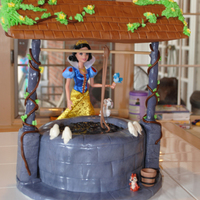 Snow White Well Birthday Cake The Well Birds And Bucket Are Edible   Snow White well birthday cake. The well, birds, and bucket are edible.