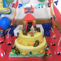 Circus Circus a cake I completed for my nephew's 1st birthday