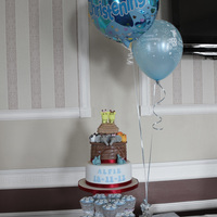 Noah's Ark Christening Cake And Cupcakes Noah's Ark Christening Cake and Cupcakes