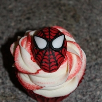 Superhero Spiderman Cupcake Superhero Spiderman Cupcake