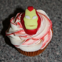 Superhero Iron Man Cupcake Superhero Iron Man Cupcake