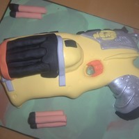 Nerf Gun Cake  This cake was for my son's 11th birthday, my first non round or square cake but enjoyed making it. And I was so pleased when his...