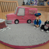 Postman Pat Birthday Cake I made this cake for my little boy's 2nd birthday. The van is sponge cake, all is edible.