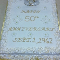 50Th Anniversary Cake By Pamcakes 50th Anniversary Cake by PamCakes