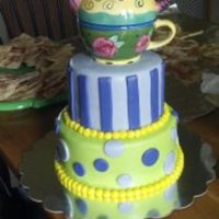 Teapot Theme Bridal Shower Cake By Pamcakes Teapot Theme Bridal Shower Cake by PamCakes