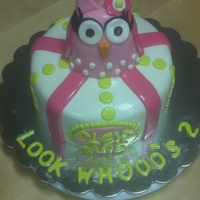 "Owl Look Whooos 2 Birthday Cake Owl "" Look Whooo's 2"" Birthday Cake"