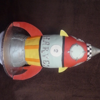 Based On Rhyme Rocket Birthday Cake For A 2 Year Old Little Boy Who Loves Rockets Based on Rhyme RocketBirthday Cake for a 2 Year Old little boy who loves rockets :)