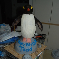 This Was My First Attempt At A Carved Cake It Is Chocolate Cake With Vanilla Buttercream And Chocolate Ganache The Penguin Is Modeled Af This was my first attempt at a carved cake. It is chocolate cake with vanilla buttercream and chocolate ganache. The penguin is modeled...