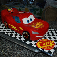 Cars Lightning Mcqueen Birthday Cake Vanilla Cake With Strawberry Filling And Vanilla Buttercream   Cars Lightning McQueen Birthday Cake, vanilla cake with strawberry filling and vanilla buttercream.