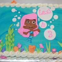 Molly Bubbleguppies Cake Buttercream Frosting With Fondant Accents Molly!Bubbleguppies cake buttercream frosting with fondant accents