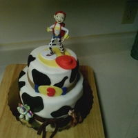 Toy Story..jessie Cake My first try at using fondant.