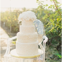Vintage Ivory And White Cake
