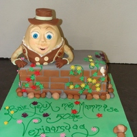 Humpty Dumpty Cake a Special cake for a lady of 50, she so wanted a Humpty Dumpty cake