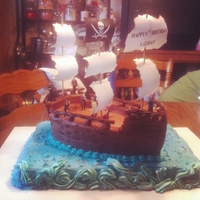 Pirate Ship Birthday Cake My first 3D cake