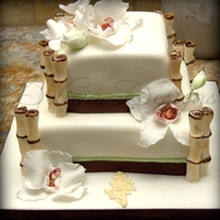 Orchid & Bamboo Cake