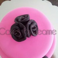 Small Black And Pink Cake A Small black and pink cake a