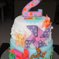 Pinwheel Ruffle Cake For A Special Two Year Old Girl Pinwheel ruffle cake for a special two year old girl.