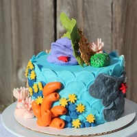 Coral Reef Inspiration Challenge   Decorations in MMF and royal icing. More photos here: http://cakecentral.com/g/i/3066255/coral-reef-inspiration-challenge/u/894440/