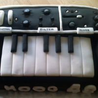 Keyboard Cake Moog Synthesiser Cake for my dads birthday