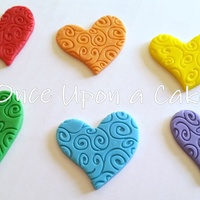 Fondant Swirly Heart Toppers Fondant swirly heart toppers!