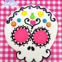 Calaveraskull Cookie Vanilla Cookie Decorated With Fondant And Royal Icing Accents *Calavera/Skull Cookie.Vanilla cookie decorated with fondant and royal icing accents