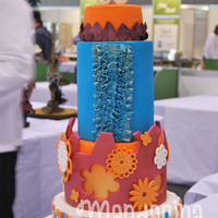 Orange And Teal This cake was made for the Australian Culinary Challenge 2012 in Victoria, wedding cake category. The cake got a bronze medal :)