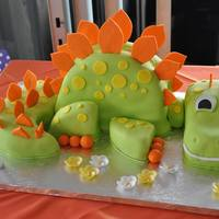 Dinosaur Themed Cake Dinosaur themed cake