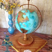 Globe Cake For 50Th Birthday Made By Amber Adamson Of Top Tier Cakes For All Occasions In Wenatche Wa Globe cake for 50th birthday, Made by Amber Adamson of Top Tier Cakes for All Occasions in Wenatche WA.