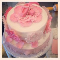 Ballerina Cake I made this cake for a ballerina themed baby shower. It's my first tiered cake and only the 4th I've decorated. It's a bit...