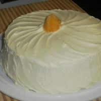 Zesty Orange Cream Cake Zesty orange cake with butter cream icing. Perfect for summer time dessert.