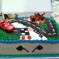 My Birthday Cakes I've Done. Cars 2 butter cream and fondant track
