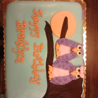 Owl Cake For Brooklyn