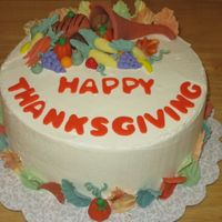 Thanksgiving Cake With Horn Of Plenty