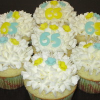 65Th Birthday Cupcakes