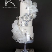 Glitz And Glam Wedding Fashion With Sugar Diamonds And Silver Leaf This cake was created for the Summer 2013 Quarterly Award Contest on CakesDecor.com. It based on a wedding fashion inspiration board I have...