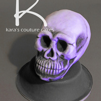 3D Purple 'lucy' Skull Cake All cake, hand 'skull'pted :) and covered in my new favorite fondant. You can find it on my favorites page at Pastry Portal! http...