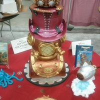 Steampunk   this is the cake that won me 11th place at the oklahoma sugar art show this year