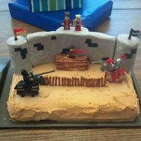 Joe's Jousting Cake! He even got some legos out of the cake!