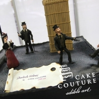 Sherlock Holmes cake based on novel and film Sherlock Holmes: Game of Shadows...I hope you like it!