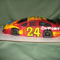 Jeff Gordon Specialty Car This is a sculpted Jeff Gordon Specialty Car decorated in buttercream.