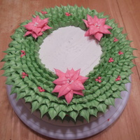 Holiday Wreath Cake Holiday wreath cake