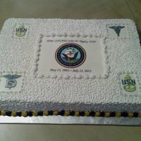 Navy Retirement Cake Navy Retirement Cake