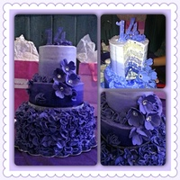 Dark Purple Ombre Cake Dark purple ombré cake!