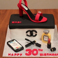 Chanel Shoe & Accessories Made this cake for my daughter-in-law who loves shoes as well as talking on the phone. Thought the shoe would be easier than it was, so I...
