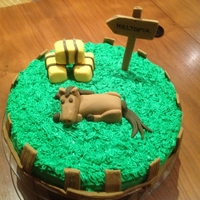 Farm Cake Birthday cake made for my brother-in-law who lives on a farm. My buttercream was way too soft and had trouble piping grass. Learning from...