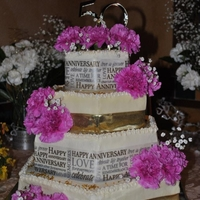 50Th Anniversary Cake Four tiered, buttercream