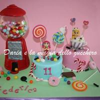 Gumball Machine And Candy Cake *Gumball machine and candy cake