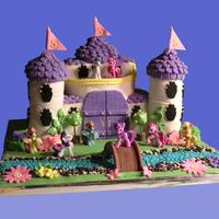 My Little Pony Royal Wedding Birthday Cake I made this cake for a friends daughter who is turning 5. Castle is cake with exeption of the towers, which are RKT. All fondant cover and...